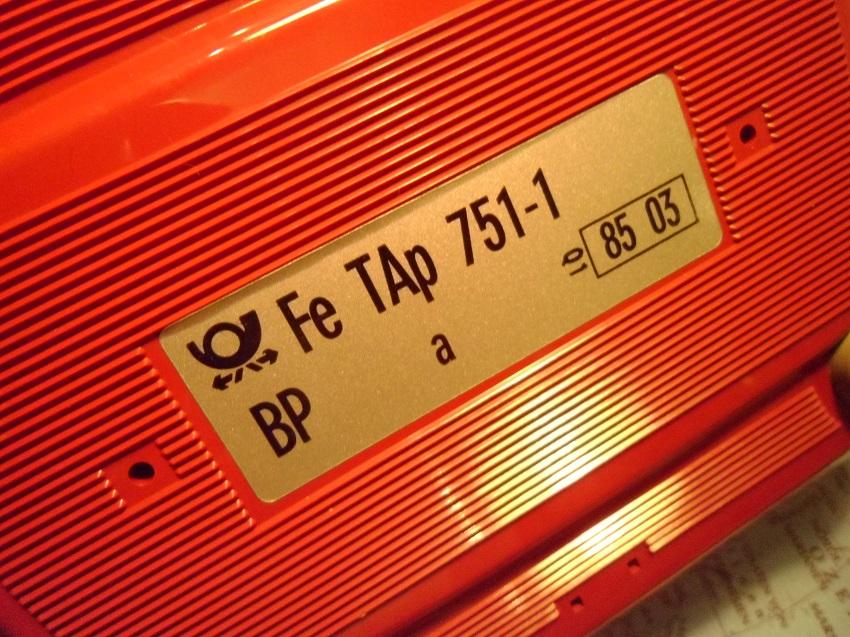 FeTAp 751-1 Typenschild